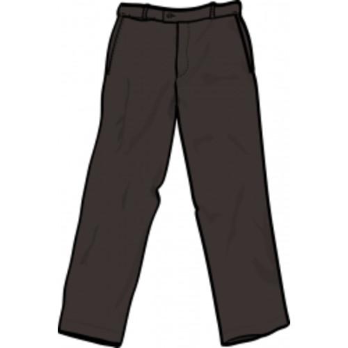 Men's Black P/V Pants Stout