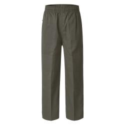 Deniehy Gaberdine Long Pants with Double Knee