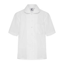 Short Sleeve Blouse with Peter Pan Collar