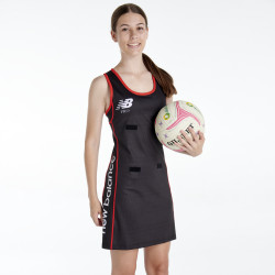 Professional Netball Dress Full Back in NB-Dry with Lycra