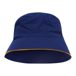 Sturt Cotton Bucket Hat with Trim